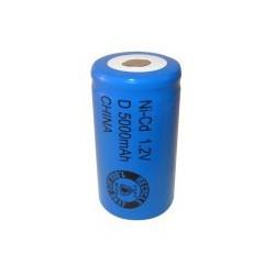 Pila NiCD D 5000 mAh cabeza plana - 1,2V - Evergreen