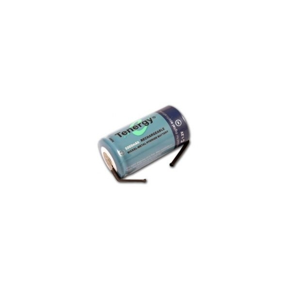 Pila NiMH C 5000 mAh cabeza plana con lengueta - 1,2V - Tenergy