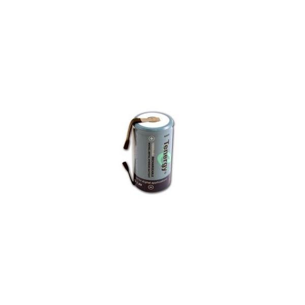 Pila NiMH D 10000 mAh cabeza plana con lengüeta- 1,2V - Tenergy