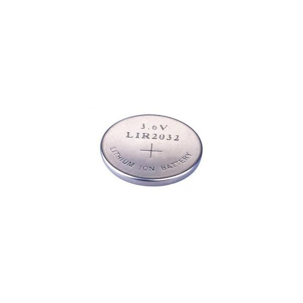 Pile bouton rechargeable Li-Ion LIR 2032 - 3,6V