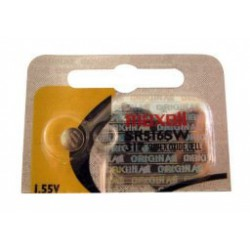 Pile bouton SR516 / 317 - 1,55V - oxyde d'argent - Maxell