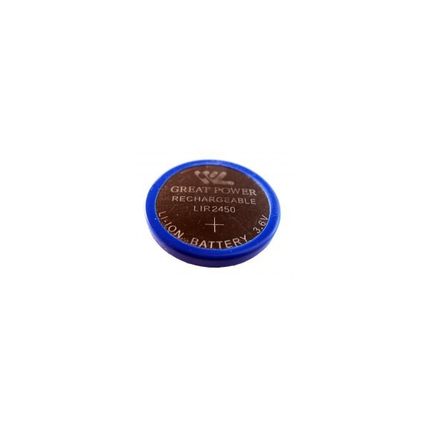 Pile bouton rechargeable Li-Ion LIR 2450 - 3,6V