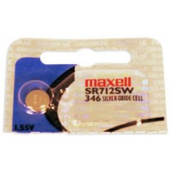 Pile bouton SR712 / 346 - 1,55V - oxyde d'argent - Maxell