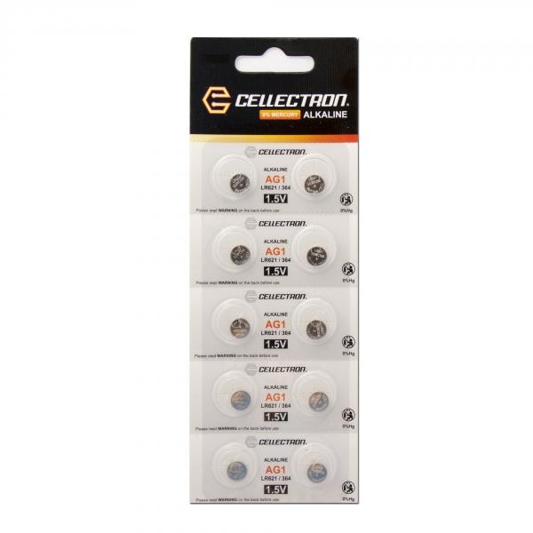 AG1 10 piezas pila botón alcalina AG1 / LR60 / LR620 1,5V Cellectron