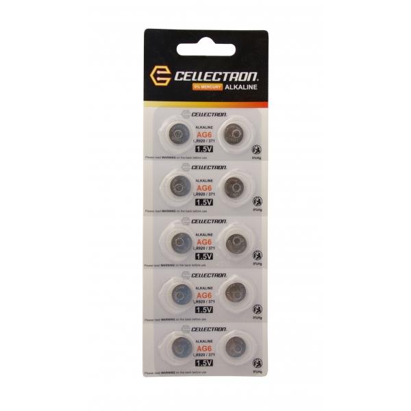 AG6 10 pila botón alcalina AG6 / LR920 / 371 1,5V Cellectron
