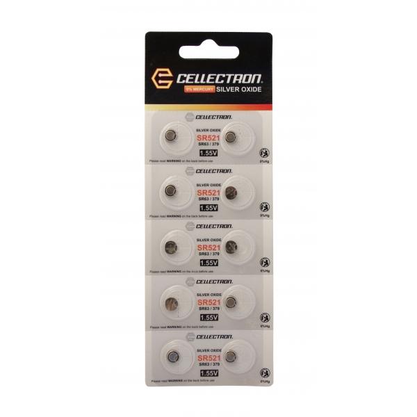 SR521 10 Pila botón Óxido de plata SR521 / SR63 / 379 1,55V Cellectron