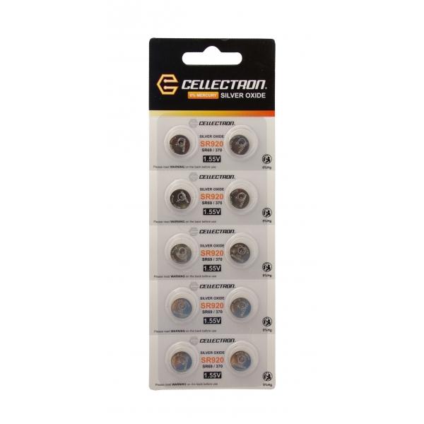 SR920 10 Pila botón Óxido de plata SR920/SR69 / 370 1,55V Cellectron