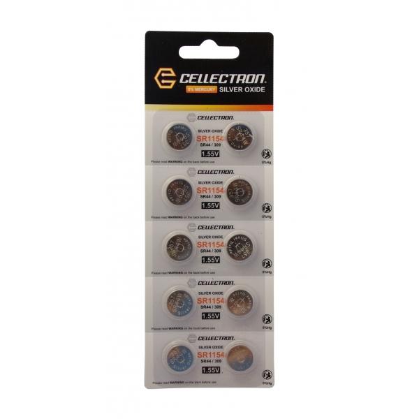 SR1154 10 Pila botón Óxido de plata SR1154 / SR44/357 1,55V Cellectron
