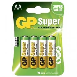 Pila alcalina 4 x AA / LR6 - 1,5V - GP Battery