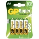 Pila alcalina 4 x AA / LR6 - 1,5V - GP Battery