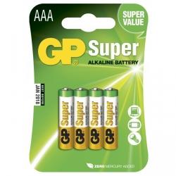 Pila alcalina 4 x AAA / LR03 - 1,5V - GP Battery