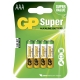 Pila alcalina 4 x AAA / LR03 - 1,5V - GP Battery