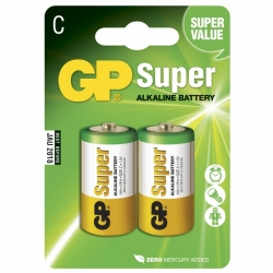 Pila alcalina 2 x C / LR14 - 1,5V - GP Battery