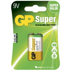 Pilas alcalina 9V / 6LR61 - GP Battery