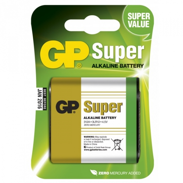 Pilas alcalina 1 x 3LR12 4,5V SUPER - GP Battery