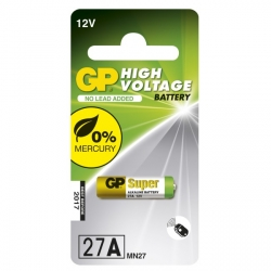 Pilas alcalina 1 x 27A / MN27 - 12V - GP Battery