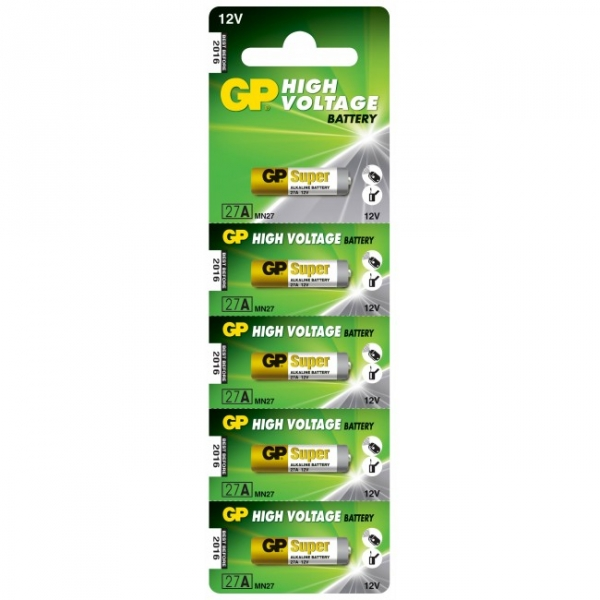 Pilas alcalina 5 x 27A / MN27 - 12V - GP Battery