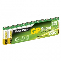 Pilas alcalina 12 x AA / LR6 SUPER - 1,5V - GP Battery