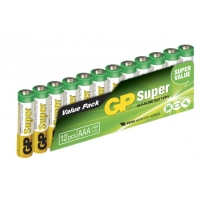 Pilas alcalina 12 x AAA / LR03 SUPER - 1,5V - GP Battery