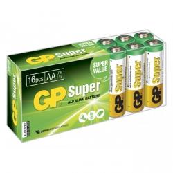 Pilas alcalina 16 x AA / LR6 SUPER - 1,5V - GP Battery
