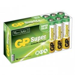 Pilas alcalina 16 x AAA / LR03 SUPER - 1,5V - GP Battery