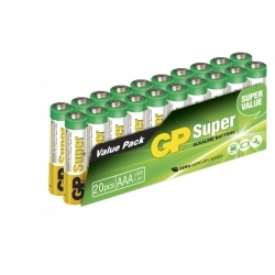Pilas alcalina 20 x AAA / LR03 SUPER - 1,5V - GP Battery