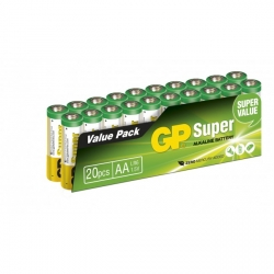 Pilas alcalina 20 x AA / LR6 SUPER - 1,5V - GP Battery