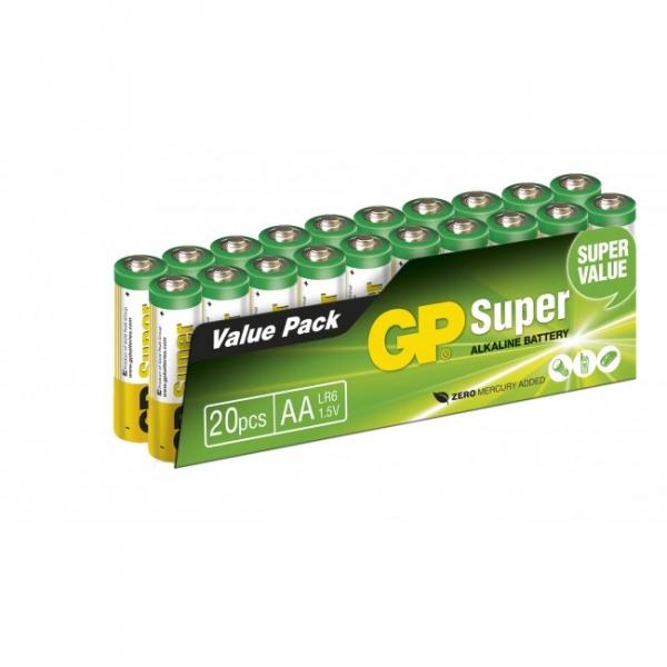 Pilas alcalina 20 x AA / LR6 SUPER - 1,5V - GP Battery