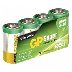 Pilas alcalina 4 x D / LR20 SUPER - 1,5V - GP Battery
