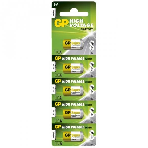 Pilas cilíndrica alcalina 5 x 10A / L1022 - 9V - GP Battery