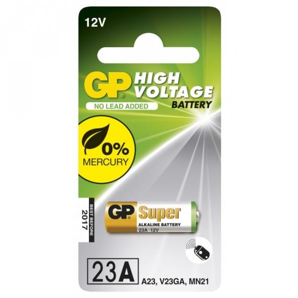 Pilas cilíndrica alcalina 1 x 23AE / MN21 / VA23GA - 12V - GP Battery