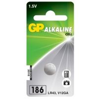 Pila botón alcalina 1 x GP 186 / LR43 / V12GA - 1,5V - GP Battery