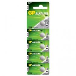 Pila botón alcalina 5 x GP 186 / LR43 / V12GA - 1,5V - GP Battery