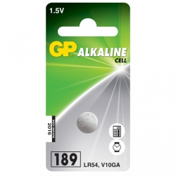 Pila botón alcalina 1 x GP 189 / LR54 / V10GA - 1,5V - GP Battery