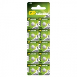 Pila botón alcalina 10 x GP 192 / LR41 / V3GA / - 1,5V - GP Battery