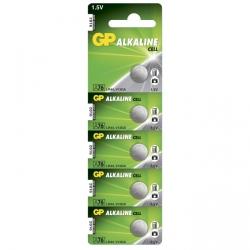 Pila botón alcalina 5 x GP A76 / LR44 / V13GA - 1,5V - GP Battery
