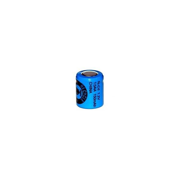 Pila NiCD 1/3 AA 150 mAh Cabeza plana- 1,2V - Evergreen