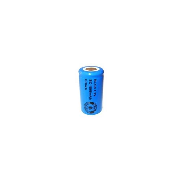Pila NiCD Sub C 1800 mAh Cabeza plana - 1,2V - Evergreen
