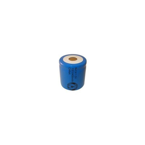 Pila NiCD 1/2 D 2400 mAh cabeza plana - 1,2V - Evergreen